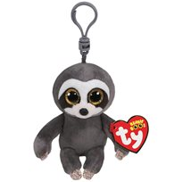 Beanie Boos Dangler, grey sloth clip