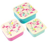 Flamingo Bay Snack Boxes (Set Of 3)