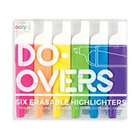 Do-Overs Erasable Highlighters, 6-p
