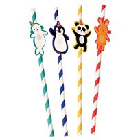 Party Animals Party Straws (Pack Of 4)