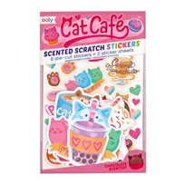 Scented Scratch Stickers, Cat Café