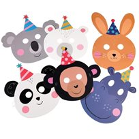 Party Animals Character Masks (Set Of 6)