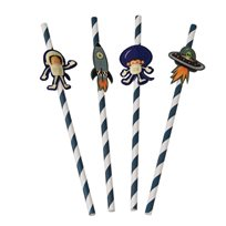 Space Adventures Party Straws (Pack Of 4)