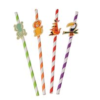 Colourful Creatures Party Straws (Pack Of 4)