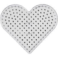 Pärlplatta 17 x 15.5 cm Jumbo hjärta