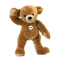Happy Teddy Bear 28 cm, Light Brown