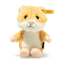 Soft Cuddly Friends Happy Hamster, Golden Yellow/White