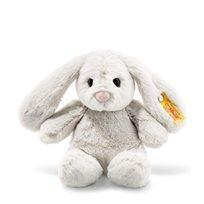 Soft Cuddly Friends Hoppie Rabbit, Light Grey, 18 cm