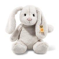 Soft Cuddly Friends Hoppie Rabbit, Light Grey, 28 cm