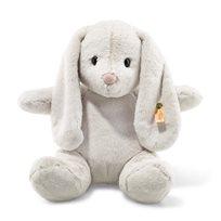 Soft Cuddly Friends Hoppie Rabbit, Light Grey, 38 cm