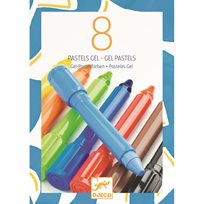 Djeco 8 Gel Pastels, Classic Colours