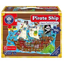 Pussel 100 Bitar, Pirate Ship