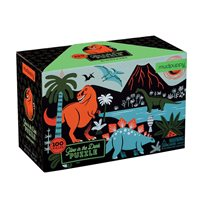 Glow In The Dark Puzzle 100 Pcs, Dinosaurs