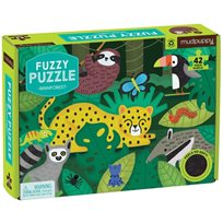 Fuzzy Puzzle 42 Pcs, Rainforest