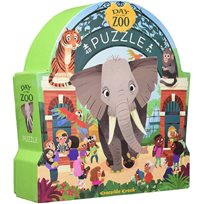 Floor Puzzle 48 Pcs, A Day At The Zoo