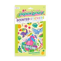 Scented Scratch Stickers, Tropical Birds