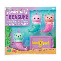 Mewmaid Treasure Scented Erasers, 4-P