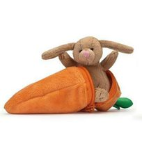 Kanin i morot, brun