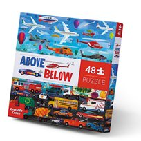 Pussel, Above & Below - Things That Go, 48 pcs