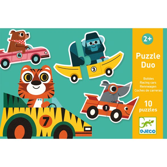 Puzzle duo, racing cars