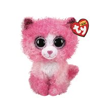 Beanie Boos Reagan, Cat With Pink Curly Hair