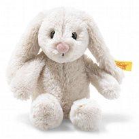 Soft cuddly friends Hoppie rabbit, light grey 16 cm