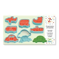 Cookie cutters and stamps, vehicles
